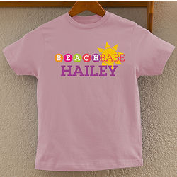 Beach Babe Personalized Youth T-Shirt