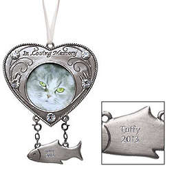 Personalized Cat Remembrance Photo Ornament