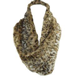 Leopard Print Faux Fur Loop Scarf