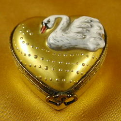 Gold Swan Limoges Box