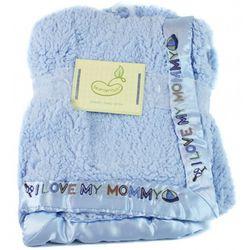 I Love My Mommy Blue Plush Blanket