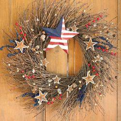 Stars and Stripes Decorative Indoor Wreath
