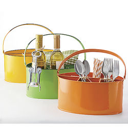 Colorful Metal Flatware Caddy