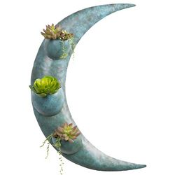Metal Moon Wall Planter