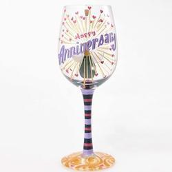 Lolita Happy Anniversary Wine Glass