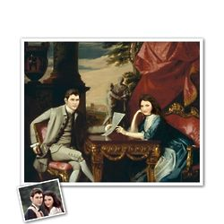 Personalized Classic Painting Mr. and Mrs. Izard Art Print