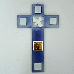 Personalized Glass Confirmation Cross