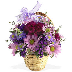Lavender Fields Bouquet Basket