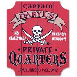 Captain's Private Quarters Custom Sign