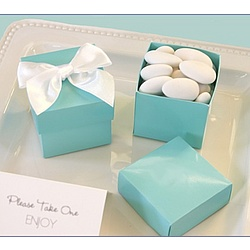 Aqua Blue Mini Cube Boxes