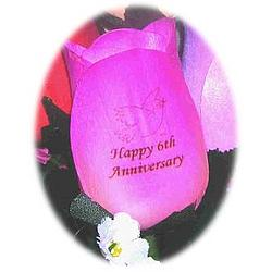 Personalized Wooden Anniversary Rose