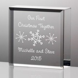 Personalized Our First Christmas Together Snowflakes Plaque