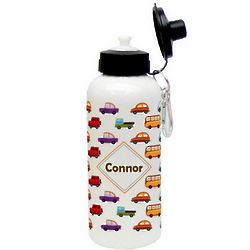 Colorful Cars Aluminum Water Bottle