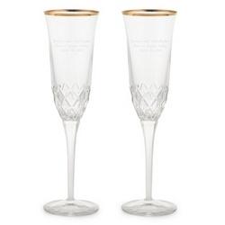 Gold Rim Crystal Flutes