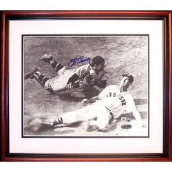 Yogi Berra Signed, Framed 8 x 10 Photo With Ted Williams