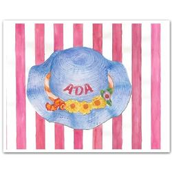 "Personalized ""Ada's Spring Hat"" Watercolor Print"