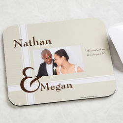 Personalized To Love You Photo Mouse Pad