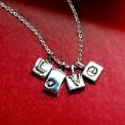 Love Letters Sterling Pendant Necklace