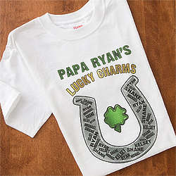Personalized Horseshoe T-Shirt Grandpa's Lucky Charms