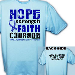 Personalized Cure ALS Awareness T-Shirt