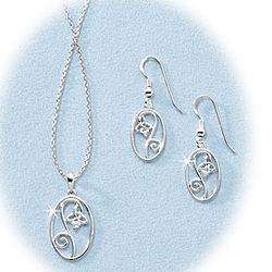 Silver Trinity Flower Pendant