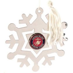 Personalized Marines Military Service Ornament and Bookmark
