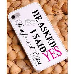 Personalized He Asked Pink iPhone Case