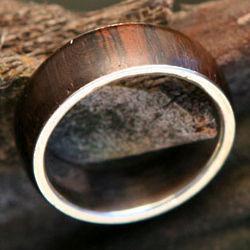 Men's Love of Nature Jacaranda Wood Ring
