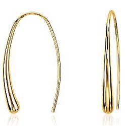 Gold Vermeil Dew Drop Threader Earrings