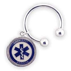 EMT's Engraved Circular Key Chain