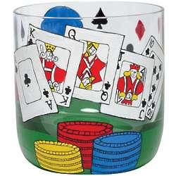 Poker Rocks Glass