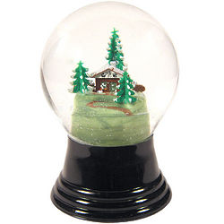 House with Tree Snow Globe