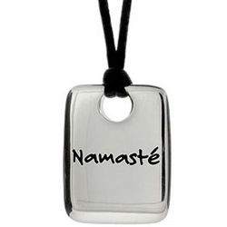 Namaste Dog Tag Pendant