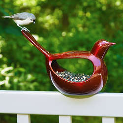 Enchanted Cast Aluminum Bird Feeder