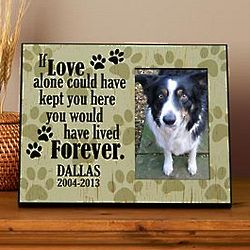Personalized Love Alone Pet Memorial Frame