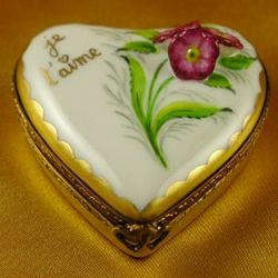 Je T'Aime Limoges Heart Box
