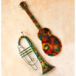 Handcrafted Metal Instrument Wall Art