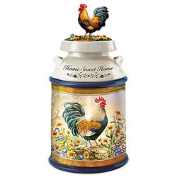 Dona Gelsinger Country Rooster Art Cookie Jar