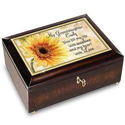 Granddaughter Fills My Life With Sunshine Custom Music Box