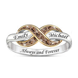 Always & Forever Personalized Diamond Ring