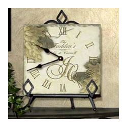 Personalized Tile Anniversary/Wedding Clock