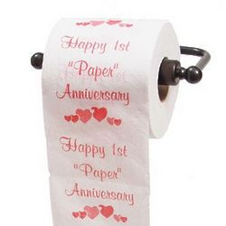 1st Paper Anniversary Toilet Paper