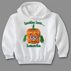 Personalized Spookley Loves Toddler Hoodie