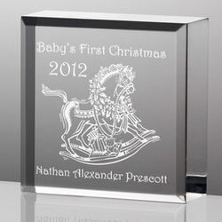 Personalized Baby's First Christmas Plaque