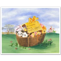 Personalized Mary's Ark Art Print