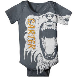 Personalized Lion Infant Boy Snapsuit T-Shirt