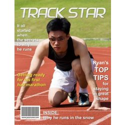 Track Star Personalized Magazine Cover