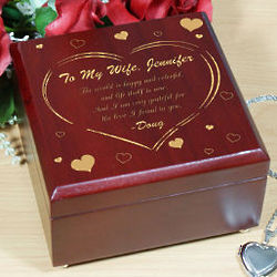 The Love I Found Engraved Jewelry Box