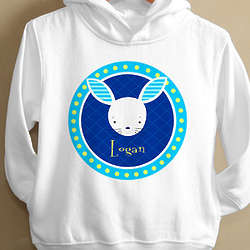 Personalized Kid's Bunny Hooded Sweatshirt