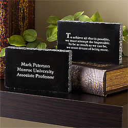Inspirational Message Engraved Marble Stone